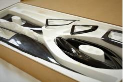 Накладки салонных планок  3 серия F30 карбон